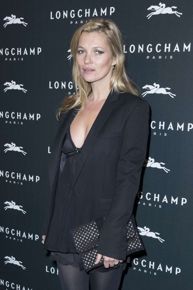 Kate Moss: Longchamp Elysees Light On Party Photocall -02
