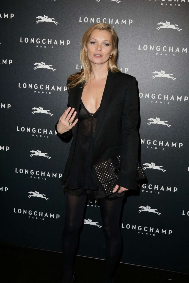 Kate Moss: Longchamp Elysees Light On Party Photocall -03