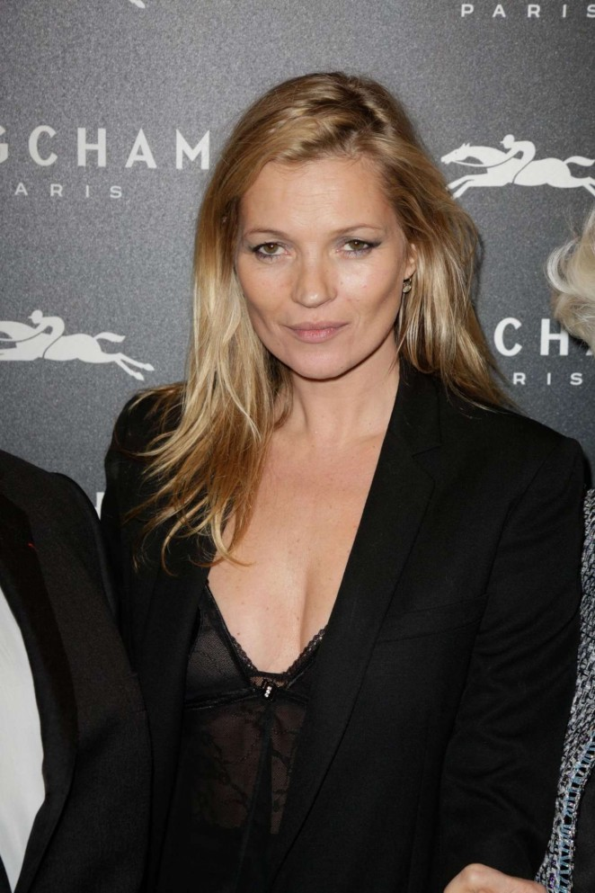 Kate Moss: Longchamp Elysees Light On Party Photocall -04