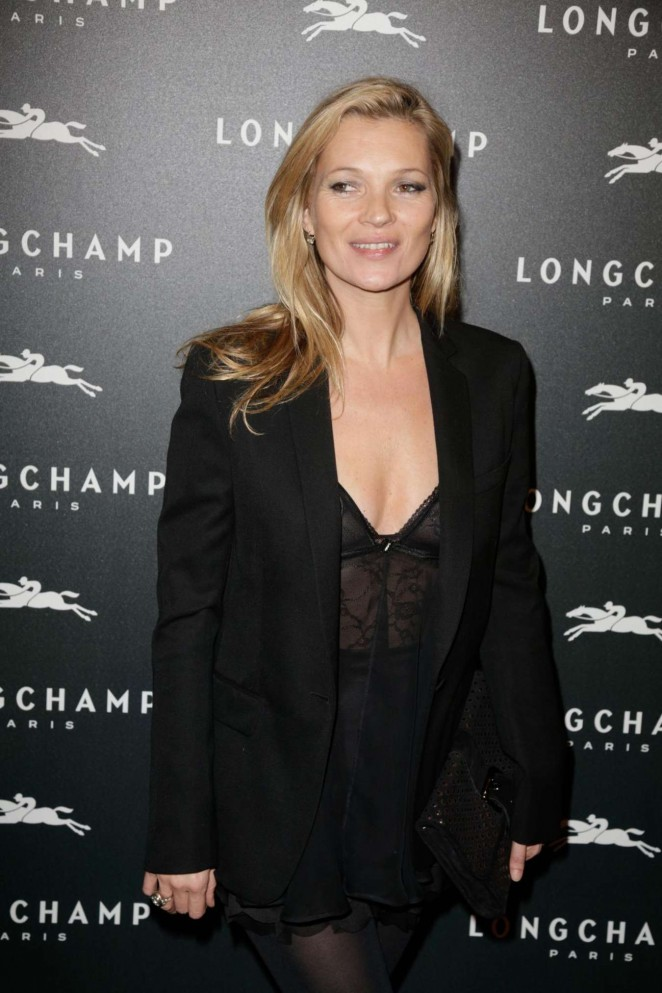Kate Moss: Longchamp Elysees Light On Party Photocall -06