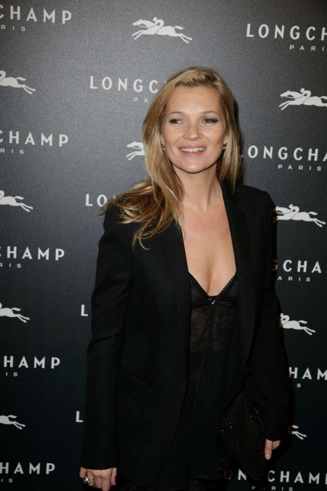 Kate Moss: Longchamp Elysees Light On Party Photocall -10