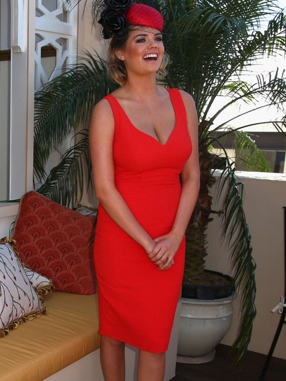 Kate Upton at Melbourne Cup Day in Australia