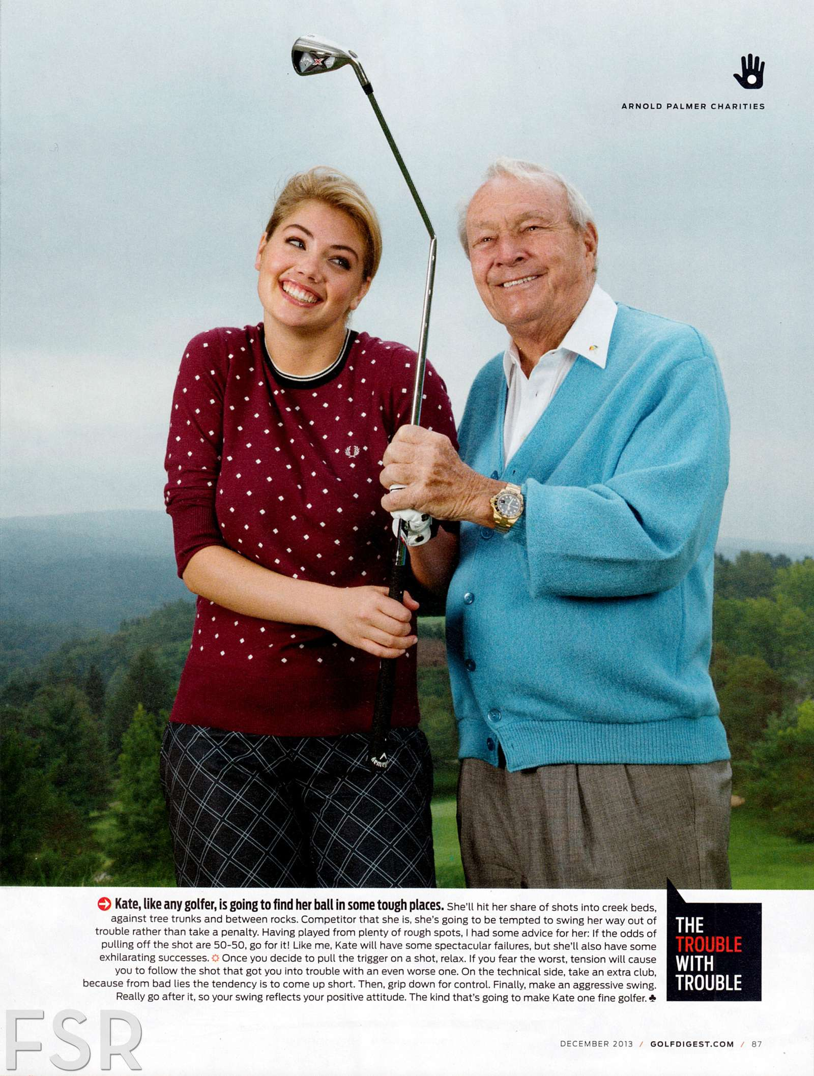 Kate Upton - Golf Digest Magazine (December 2013) - GotCeleb Golf Digest