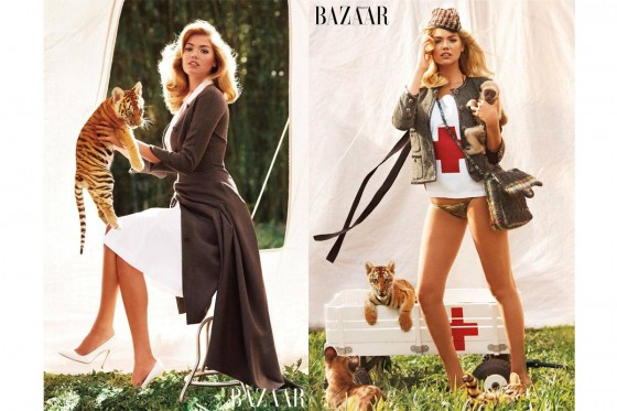 Kate Upton – Bazaar Animal Collection 2013 -02