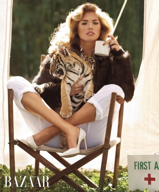 Kate Upton - Bazaar Animal Collection 2013 -03