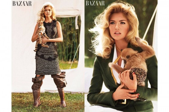 Kate Upton – Bazaar Animal Collection 2013 -04