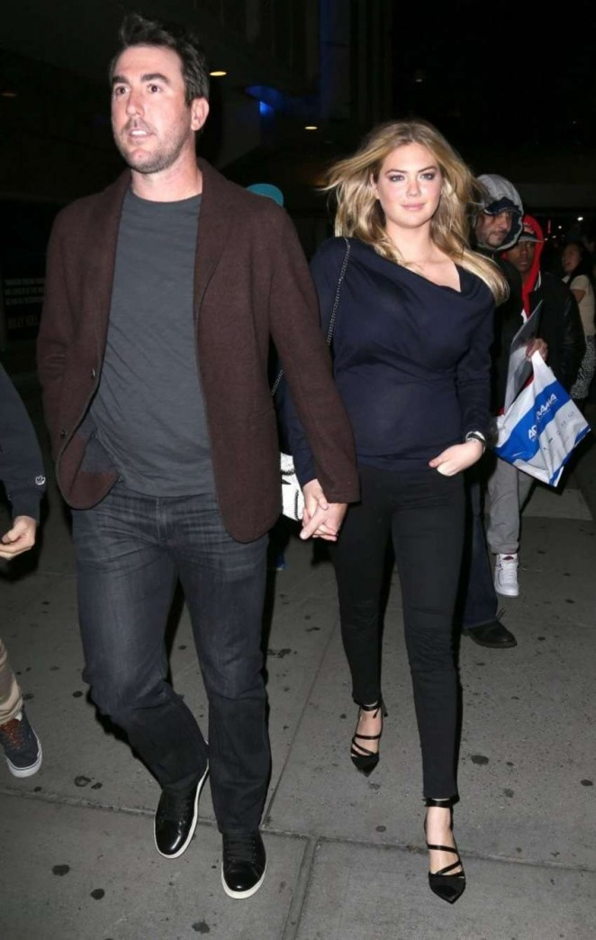 Kate Upton with boyfriend Leaving the Knicks game in NYC