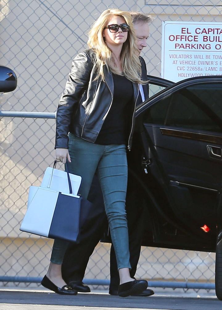 Kate Upton on her way into Jimmy Kimmel Live