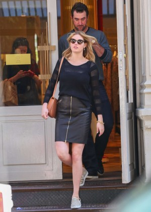 Kate Upton in Mini Skirt out in NYC