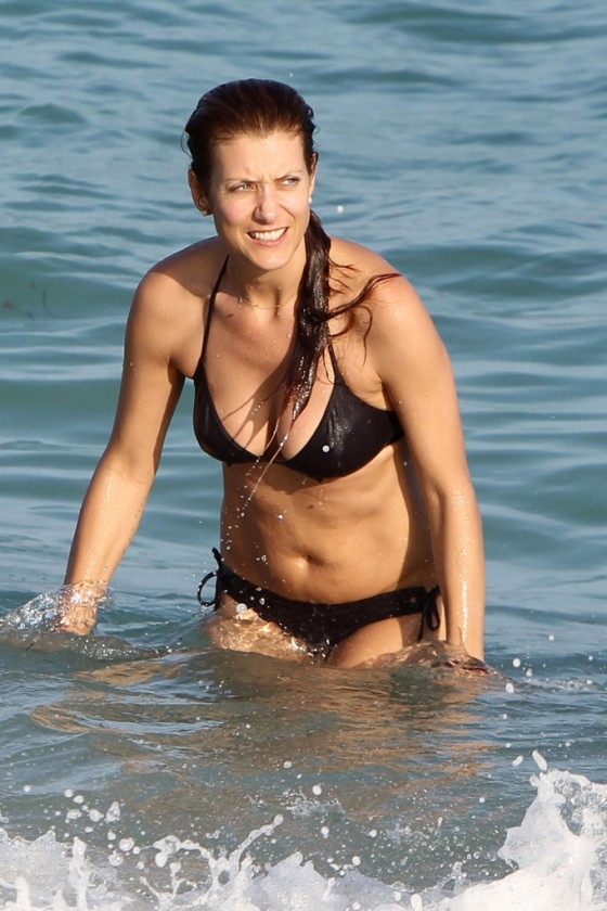 Kate Walsh - Bikini on the beach in Miami