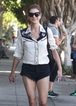 Kate Walsh in Short Shorts Out in LA