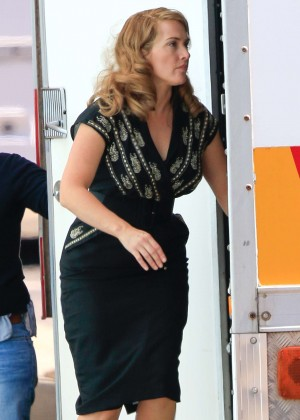 "Kate Winslet Filming ""The Dressmaker"" set at Docklands Studios in Melbourne"