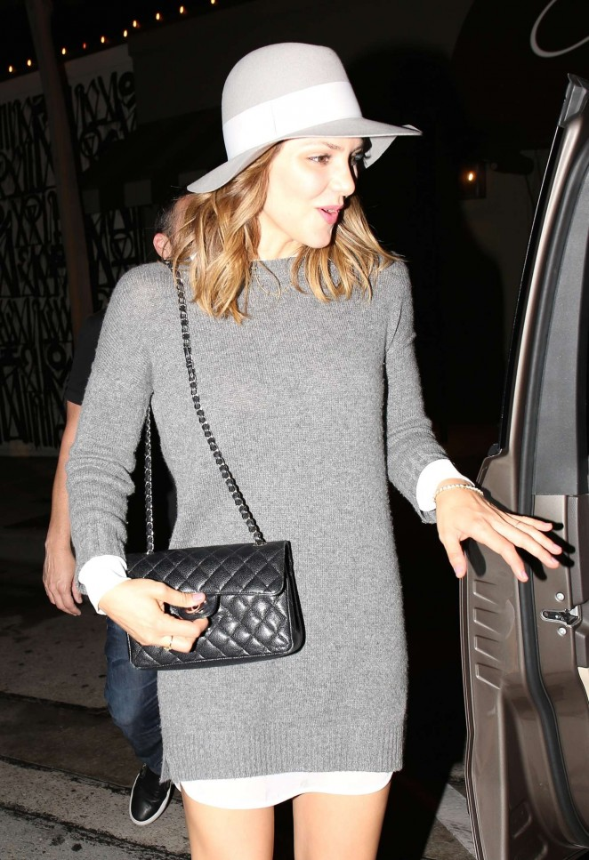 Katharine McPhee - Leaving Craig's Restaurant in West Hollywood