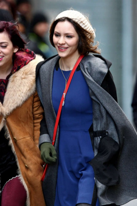 Katharine McPhee - on the set of SMASH