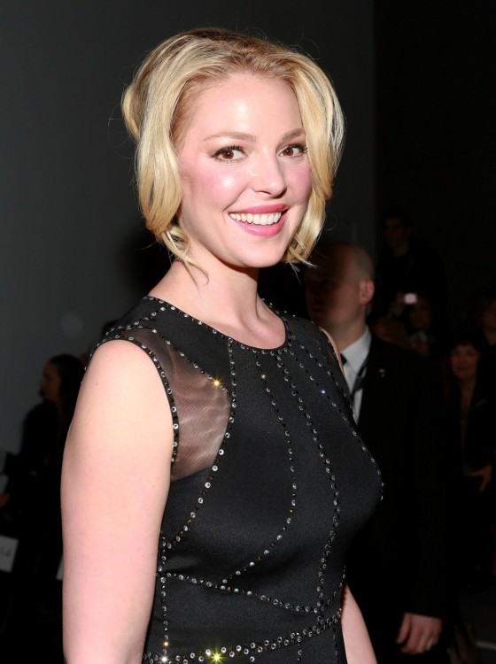 Katherine Heigl at 2013 Jenny Packham fashion show -01