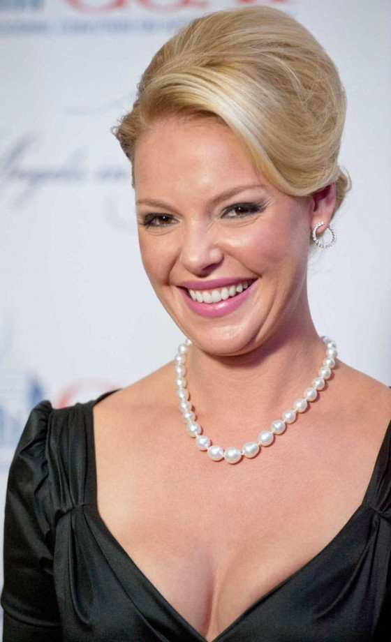Katherine Heigl showing cleavage at CCAI Gala in Washington