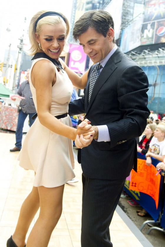 Katherine Jenkins In a short skirt at Dances with the stars on Good Morning America