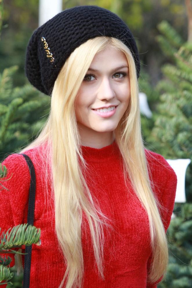 Katherine McNamara - Christmas Tree Shopping in LA