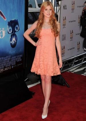 Katherine McNamara in short dress -02