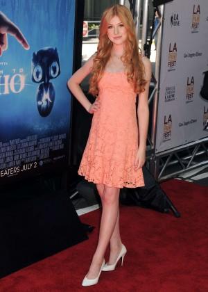 Katherine McNamara in short dress -05