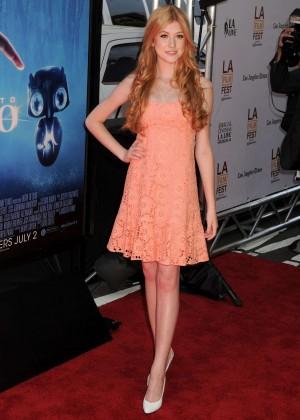 Katherine McNamara in short dress -06