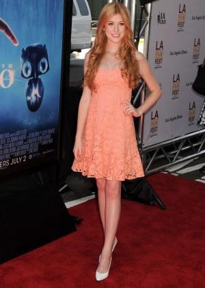 Katherine McNamara in short dress -12