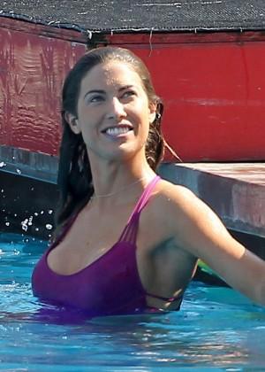 Katherine Webb on the set of  Celebrity Diving -05
