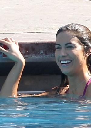 Katherine Webb on the set of  Celebrity Diving -06