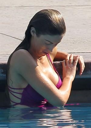 Katherine Webb on the set of  Celebrity Diving -17