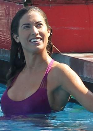 Katherine Webb on the set of  Celebrity Diving -21