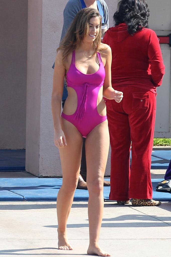 Katherine Webb on the set of  Celebrity Diving -27