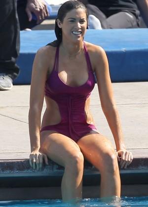 Katherine Webb on the set of  Celebrity Diving -28