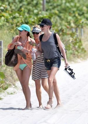 Katie Cassidy - Bikini Candids in Miami -12