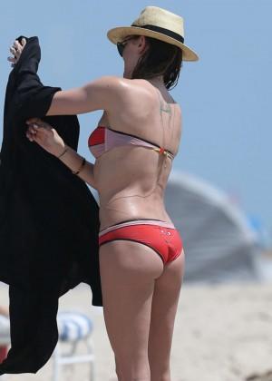 Katie Cassidy in bikini in Miami -01