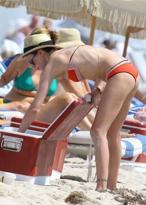Katie Cassidy in bikini in Miami -03