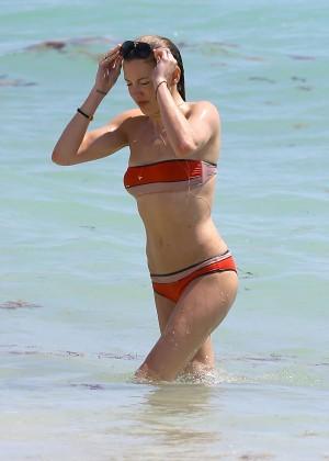 Katie Cassidy in bikini in Miami -08