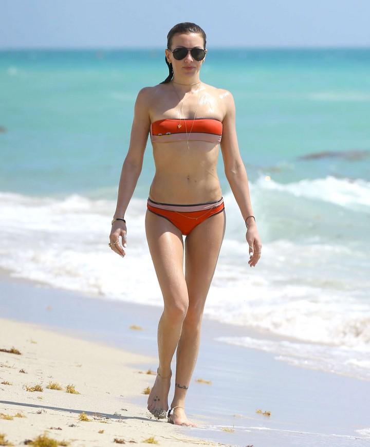 Katie Cassidy in bikini in Miami -09