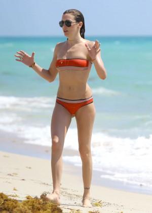 Katie Cassidy in bikini in Miami -14