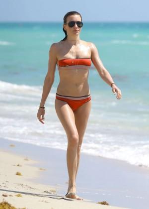 Katie Cassidy in bikini in Miami -19
