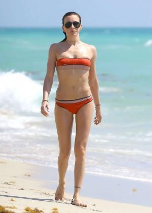Katie Cassidy in bikini in Miami -25