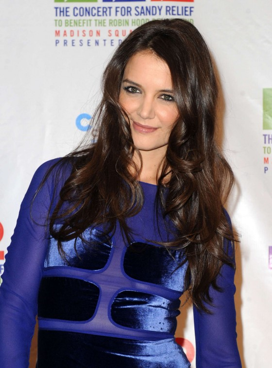 Katie Holmes at Hurricane Sandy Relief Concert in New York