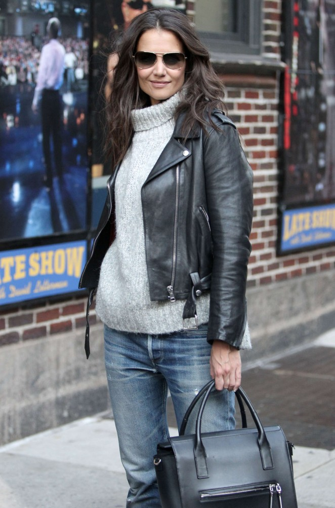 Katie Holmes in Jeans - Arrives at 'Late Show with David Letterman' in NYC