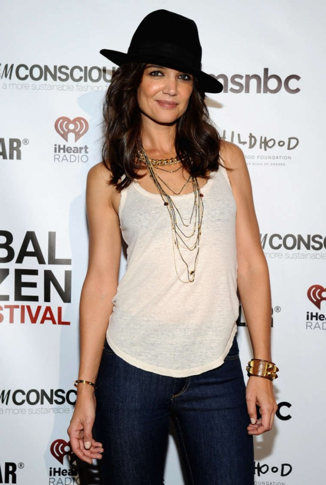 Katie Holmes - 2014 Global Citizen Festival VIP Lounge in NYC