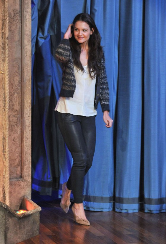 Katie Holmes at Late Night with Jimmy Fallon-03