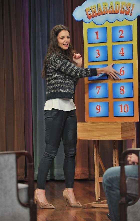 Katie Holmes at Late Night with Jimmy Fallon-11