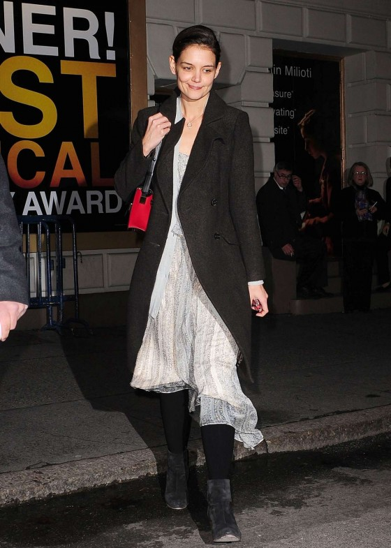 Katie Holmes at the Music Box Theater in New York -04