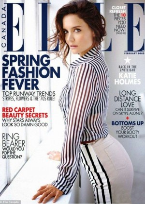 Katie Holmes - Elle Canada Magazine Cover (February 2015)