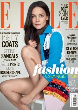 Katie Holmes: Elle UK Cover -01