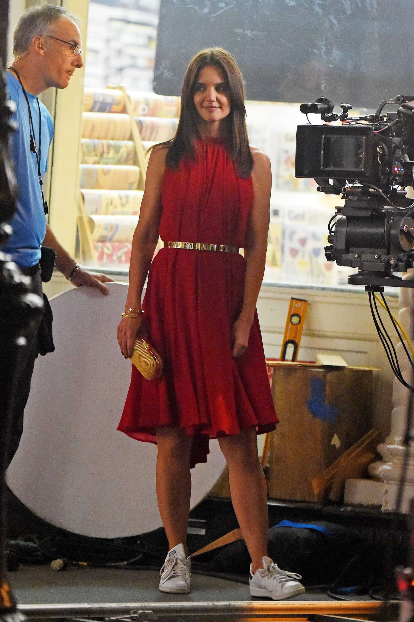 Katie Holmes – Filming a commercial at SoHo in New York ...