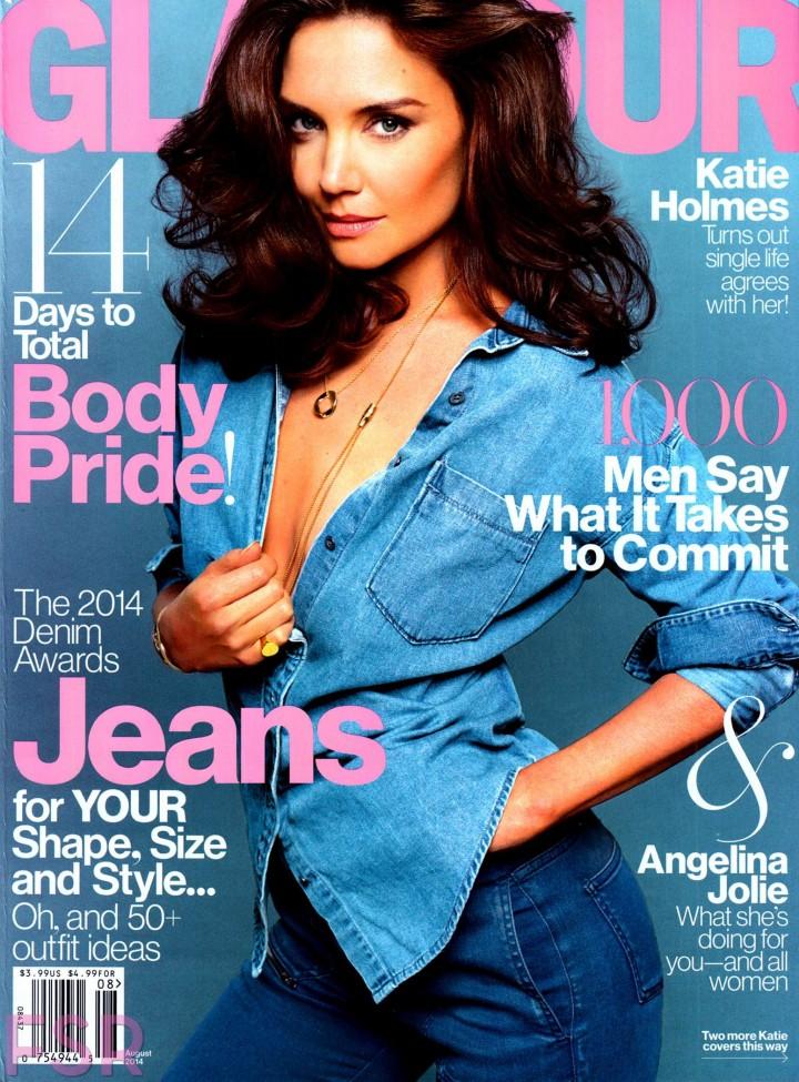 Katie Holmes - Glamour magazine (August 2014) -02